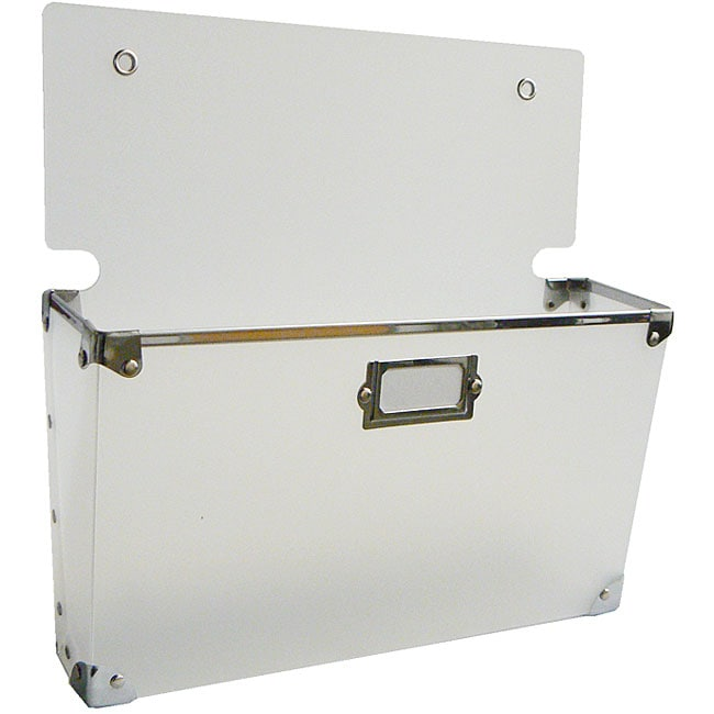 White Polypro Large Wall Pocket Set Of 3 11271896