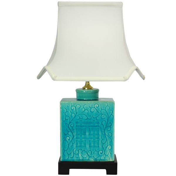 19 5 Inch Turquoise Vase Lamp China 11285422