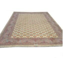 Handmade Herat Oriental Rare Antique Meshkabad Persian Wool Rug - 26'9 x 37' - Thumbnail 0