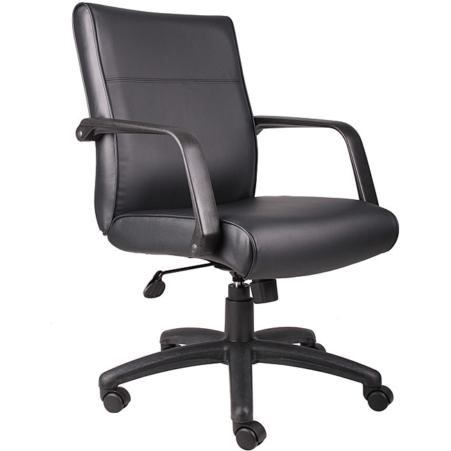 Boss Executive Mid Back Bonded Leather Office Chair