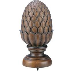 Walnut 8 Foot Wood Rod With Pineapple Finial 11340754