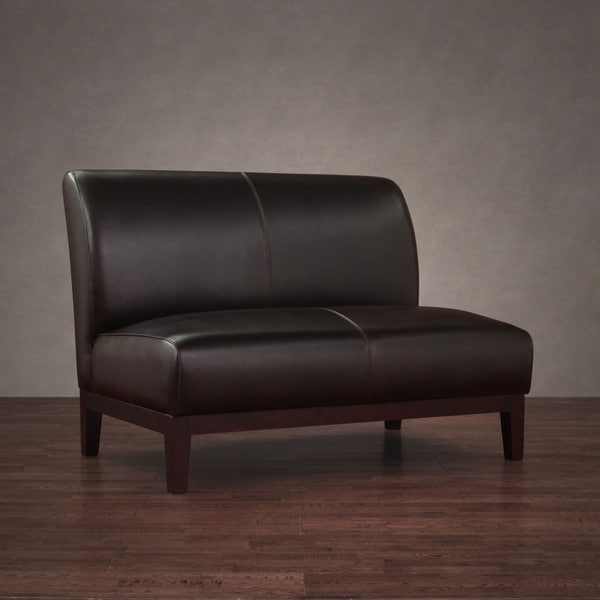 Cole Dark Brown Leather Loveseat Overstock Shopping