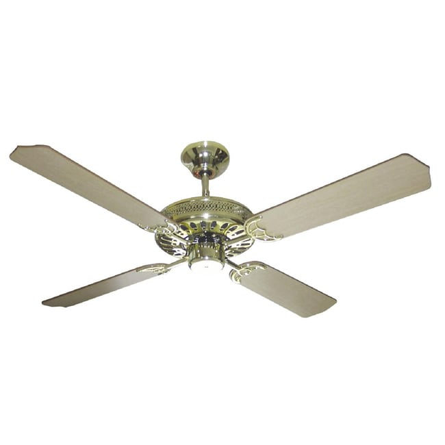 Polished Brass Finish 52 Inch Ceiling Fan Overstock