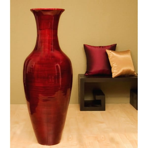 Mahogany Bamboo 47 Inch Floor Vase And Branches 11384311