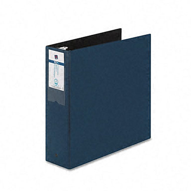 Avery Black Economy 3 Inch Round Ring Reference Binder: Avery Blue Economy 3-Inch Round Ring Reference Binder With