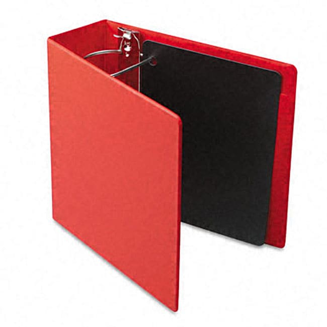 Recycled Heavy-Weight 4-Inch Slant-D Ring Red Binder