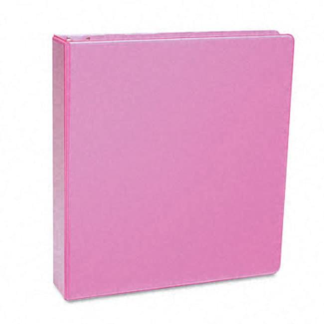 Samsill Antimicrobial 1-Inch Pink Presentation View Binder