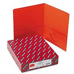 Smead Orange Recycled Two-Pocket Portfolios (25 per Box)