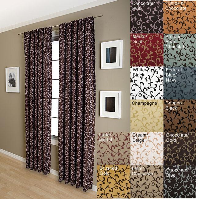 Malta Rod Pocket 84 Inch Curtain Panel 11415147