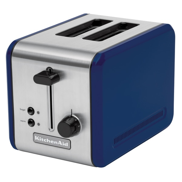 Kitchen Aide Toaster Oven KitchenAid KMTT200BW Blue Willow Stainless Steel Two-slot ...