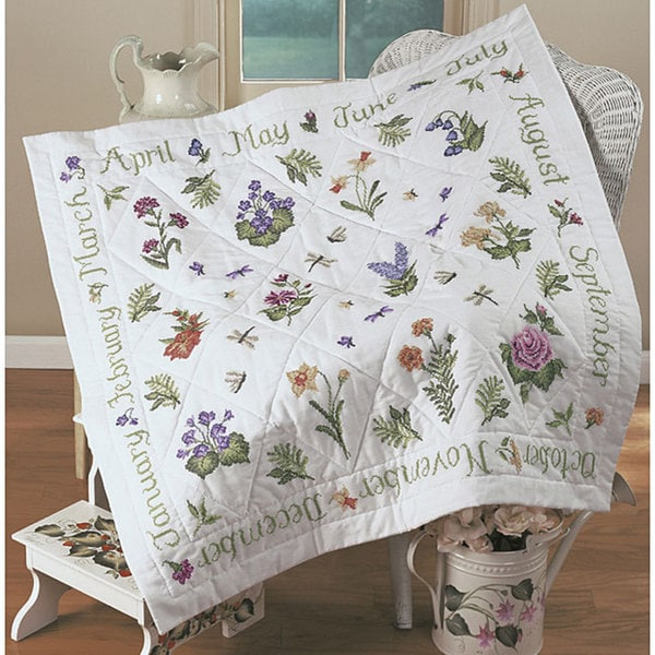 Donna Dewberry Year Of Flowers Stamped Cross Stitch