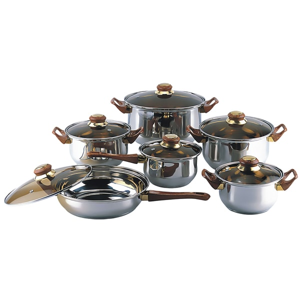 Gourmet Chef 12-piece Covered Cookware Set