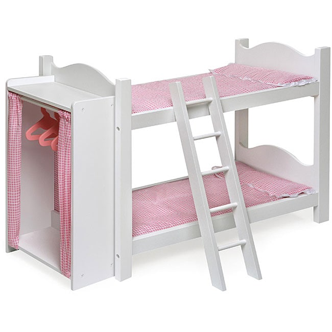 Badger Basket Doll Bunk Beds With Armoire 11448152