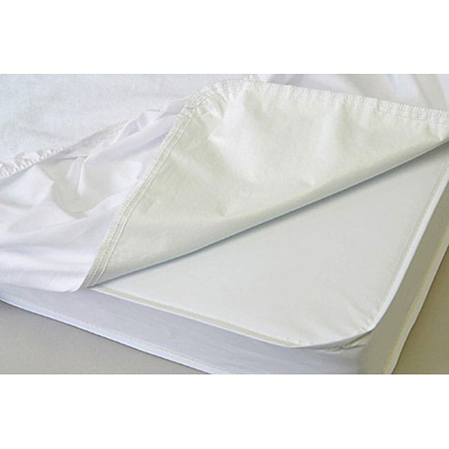 La Baby Waterproof Compact Crib Mattress Cover In Neutral