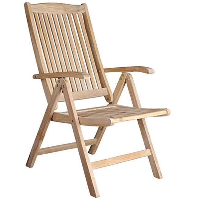 Helsinki Teak Recliner Patio Chair 11454566 Overstock