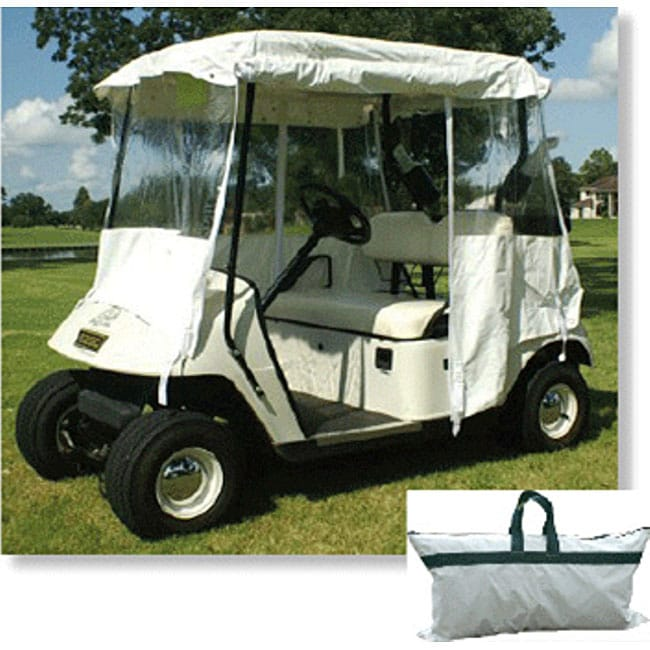 All Season White Golf Cart Cover 11461177 Overstock