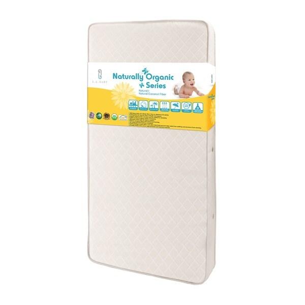 La Baby Coil Spring Organic Crib Mattress 11477719