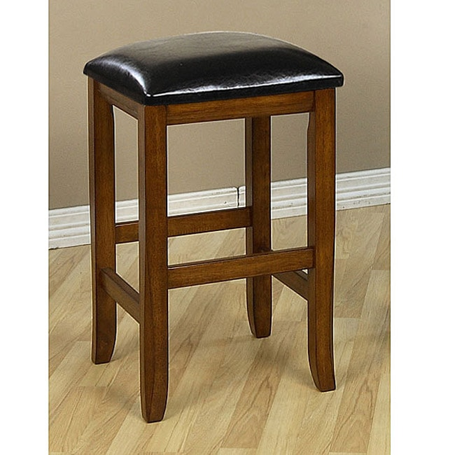 Mission Style 24 Inch Oak Counter Stools Set Of 2