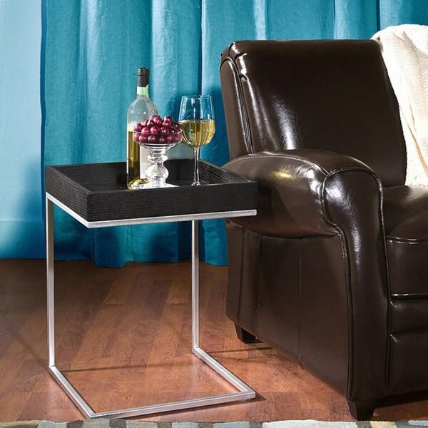 Pierson Black Oak End Table 11496176 Overstock Com