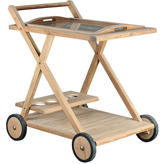 Teak Serving Cart 11520050 Overstock Com Shopping