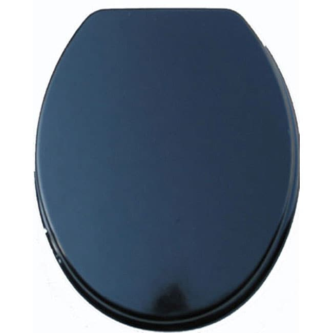 Black Molded Wood Solid Toilet Seat 11525411 Overstock