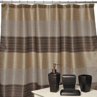 Alys Oil-rubbed Bronze 4-piece Bathroom Accessory Set w/ Shower ... - Pretty Bathroom Curtain Set