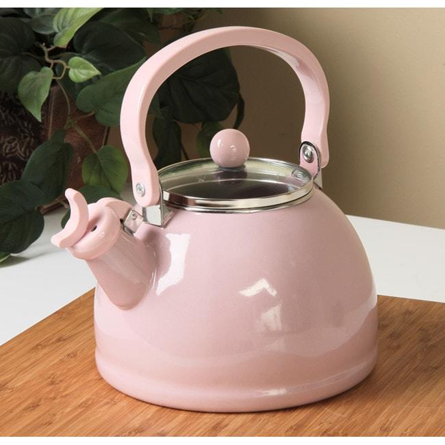 Calypso Basics Pink Whistling Tea Kettle 11559470