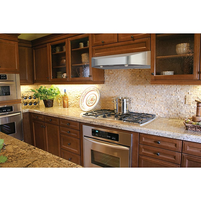 Stainless Kitchen Cabinet: Brushed-Stainless-Steel 36-Inch Under-Cabinet Kitchen