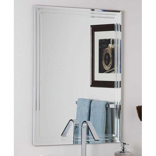 Frameless Tri Bevel Wall Mirror 11578035 Overstock Com