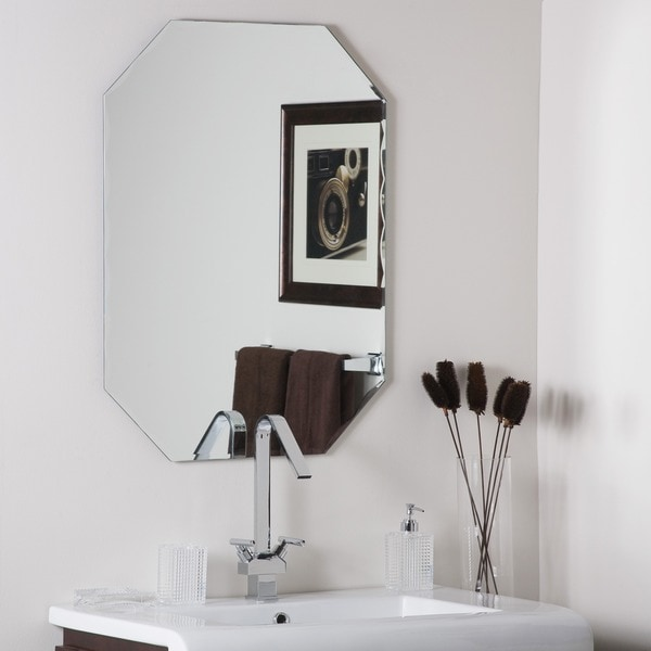 Frameless Octagon Scallop Beveled Mirror 11578101
