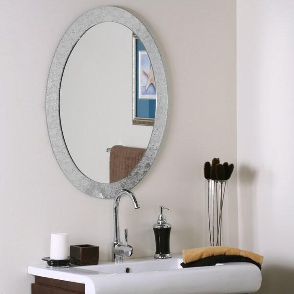 Frameless Designer Wall Mirror 11578144 Overstock Com
