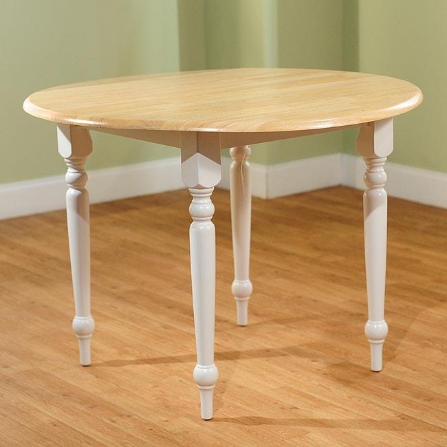 simple living rubberwood 40 inch diameter round drop leaf table 11608107. Black Bedroom Furniture Sets. Home Design Ideas