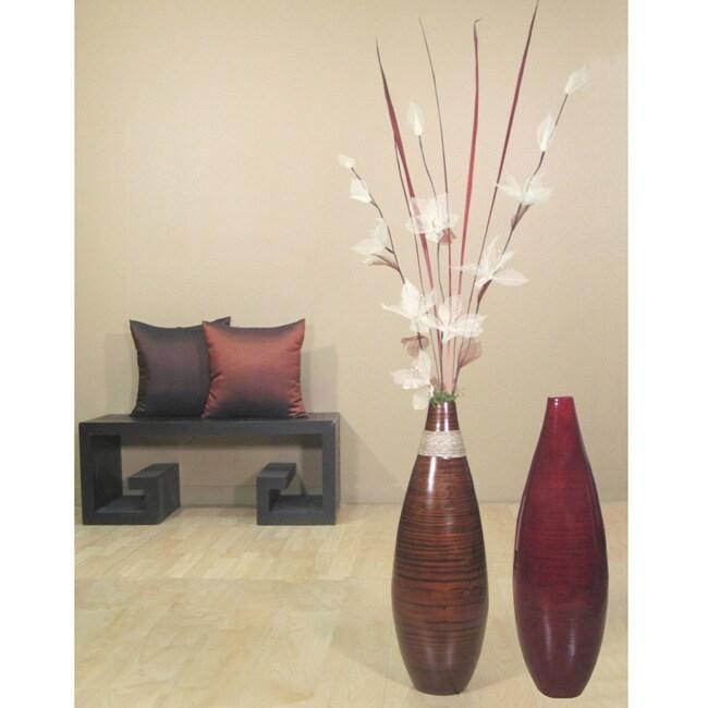 Floral Arrangement 24 Inch Teardrop Floor Vase 11711116 Overstock Com Shopping Great Deals