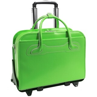 McKlein Willowbrook Detachable-Wheeled Rolling 17-inch Laptop Briefcase