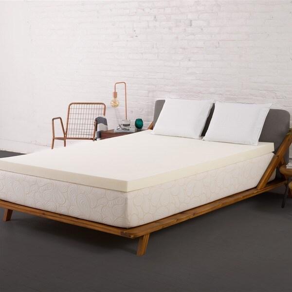 Authentic Comfort 1.5-inch Memory Foam Mattress Topper