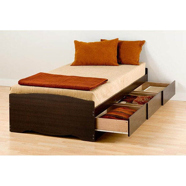 Espresso Twin Mate S Platform Storage Bed With 3 Drawers
