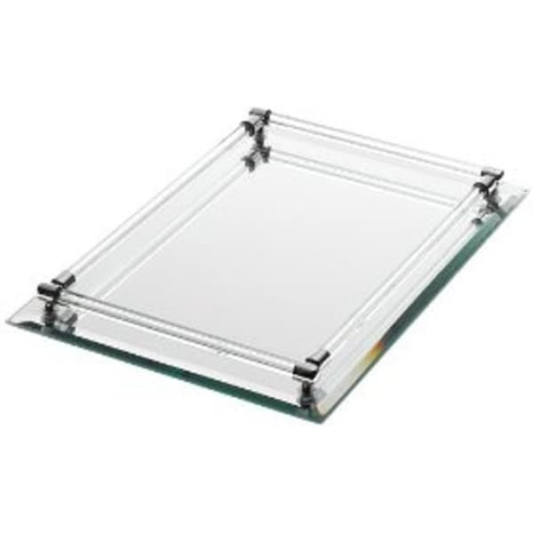 Danielle Rectangle Mirrored Vanity Tray 11771971 Overstock Com Shopping Top Rated Makeup
