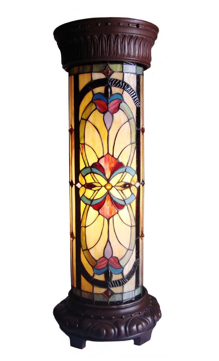 Tiffany Style Bronze Pedestal Lamp 11879801 Overstock