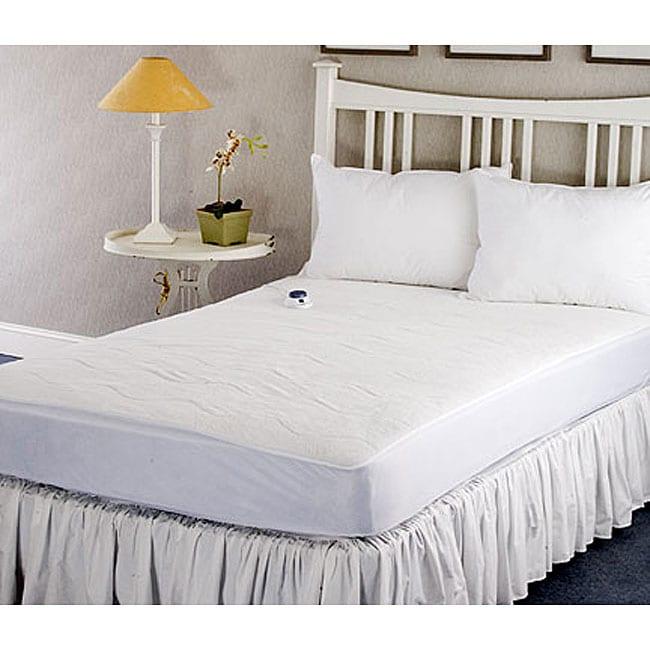 Warm And Cozy Plush Heated Electric Twin Size Mattress Pad