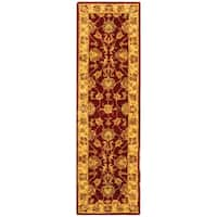 Safavieh Handmade Heritage Traditional Kerman Red/ Gold Wool Runner Rug - 2'3 x 4'