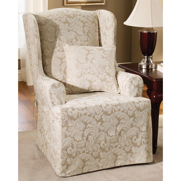 Sure Fit Scroll Wing Chair Slipcover 11886620
