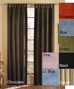 Chocolate Microsuede Tab Top 120 Inch Curtain Panel