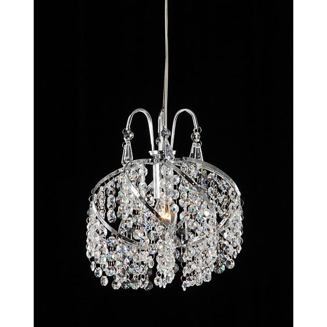 Chrome And Crystal Mini Chandelier 11911007 Overstock
