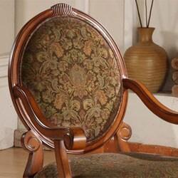 Oval Tip Midnight Arm Chair