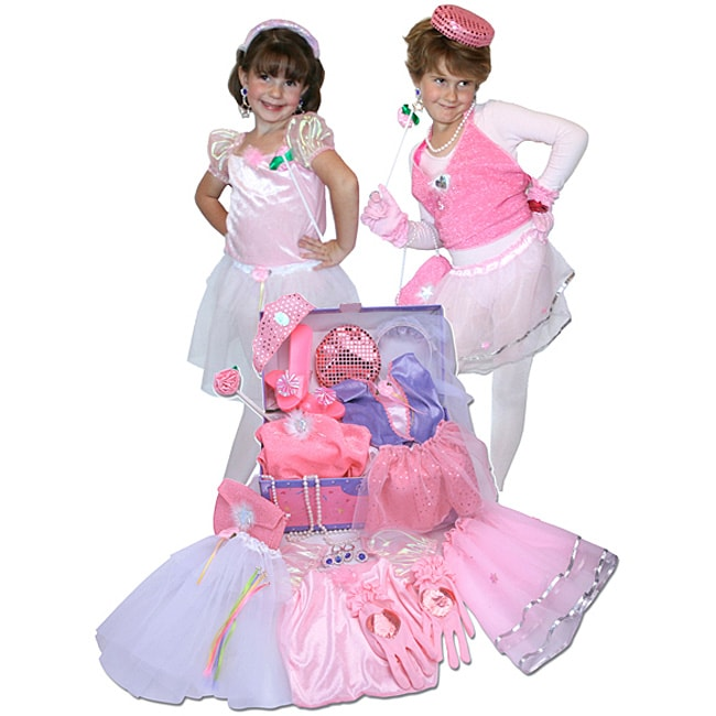 Dress Up Pretend Play Images On: Princess Glamour Dress-up Trunk Play Set