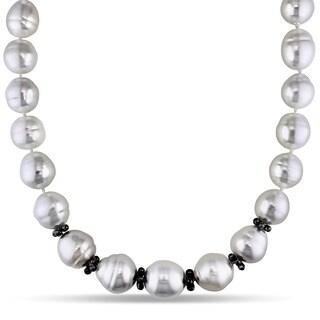 Miadora Signature Collection South Sea Pearl 12 5/8ct TDW Diamond Necklace (14-18 mm) (H-I-J, I1-I2)