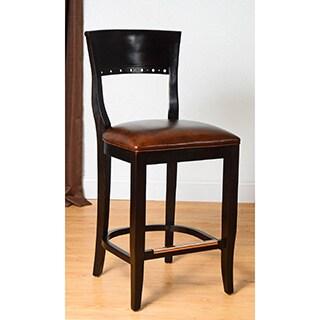 Safavieh 25 9 Inch Madison Black Leather Counter Stool