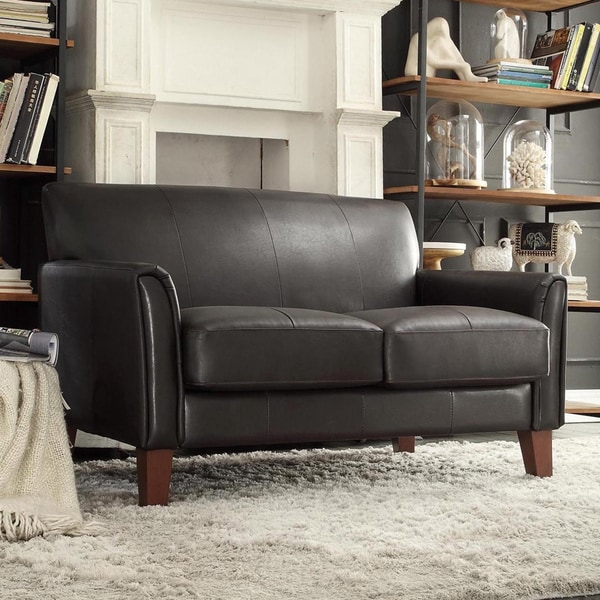 Tribecca Home Uptown Dark Brown Faux Leather Modern