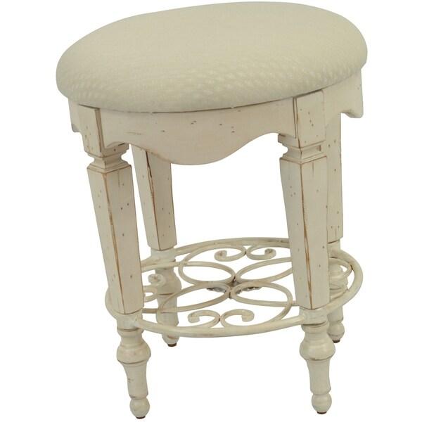 Safavieh Melissa Antique White Vanity Stool 11957842