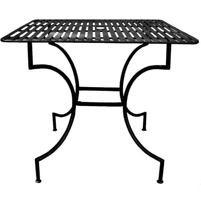 Iron Patio Table With Umbrella Hole 11967708 Overstock